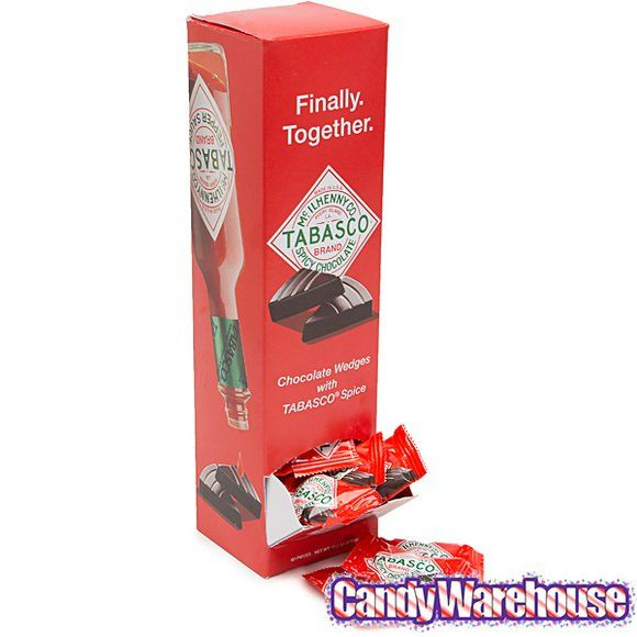Tabasco Chocolate Mini Candy Bars: 60-Piece Display