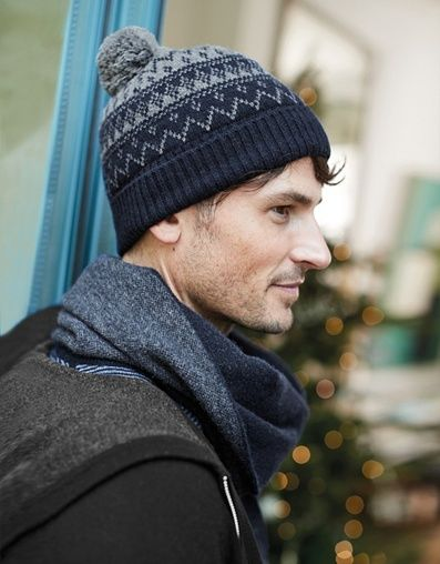2006c5dd0a9 Men s Wool-Cashmere Fair Isle Hat