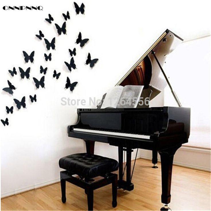 ONNPNNQ 12x 3D Butterfly modern pvc Wall decals Stickers Home decoration Decor DIY Docors Art HOT Sale