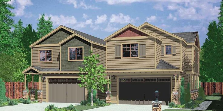 D 558 a housplans pro full service house plans for Corner duplex designs