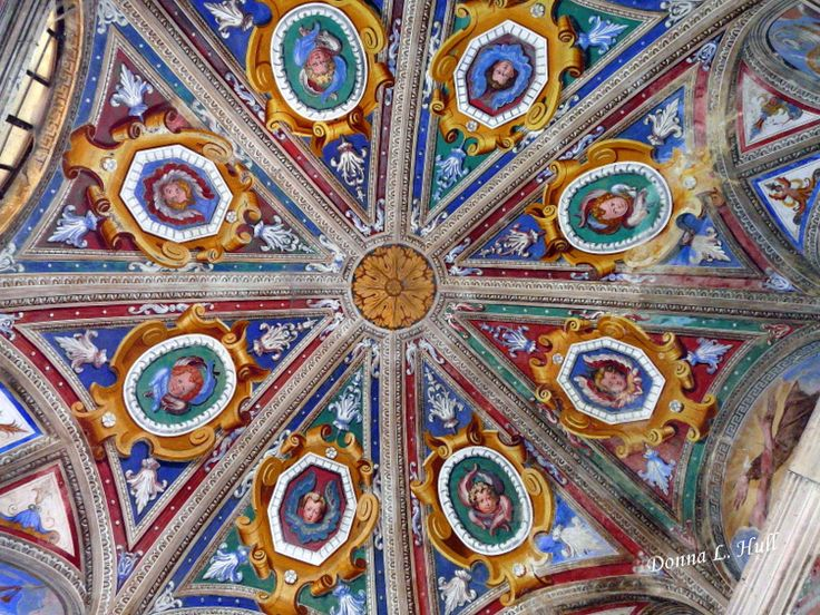 A chapel ceiling at Sacro Monte di Orta is like an Italian Kaleidoscope.