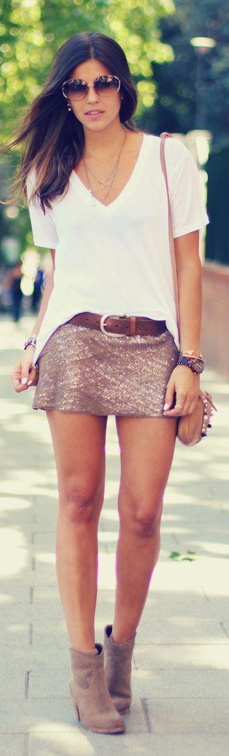 Atelier Concept Blush Sequin Mini Skirt by TrendyTaste