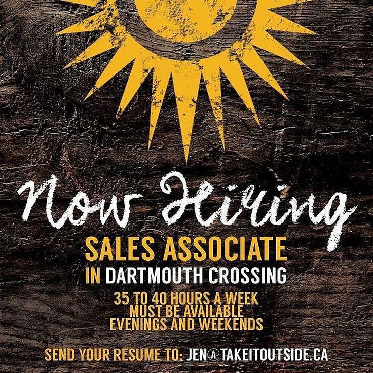 takeitoutsideinc IS HIRING a full time sales associate