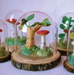 My Paper Crane: Paper Cranes, Art, Glass, Mushroom Terrariums, Felt Terrarium, Felt Mushroom, Crafts