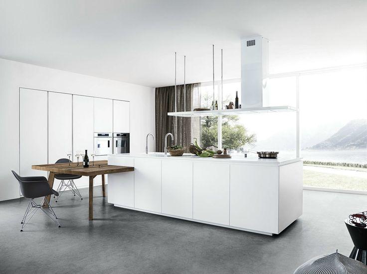 Lackierte Küche mit Kücheninsel ohne Griffe CLOE 01 by Cesar Arredamenti | Design Gian Vittorio Plazzogna