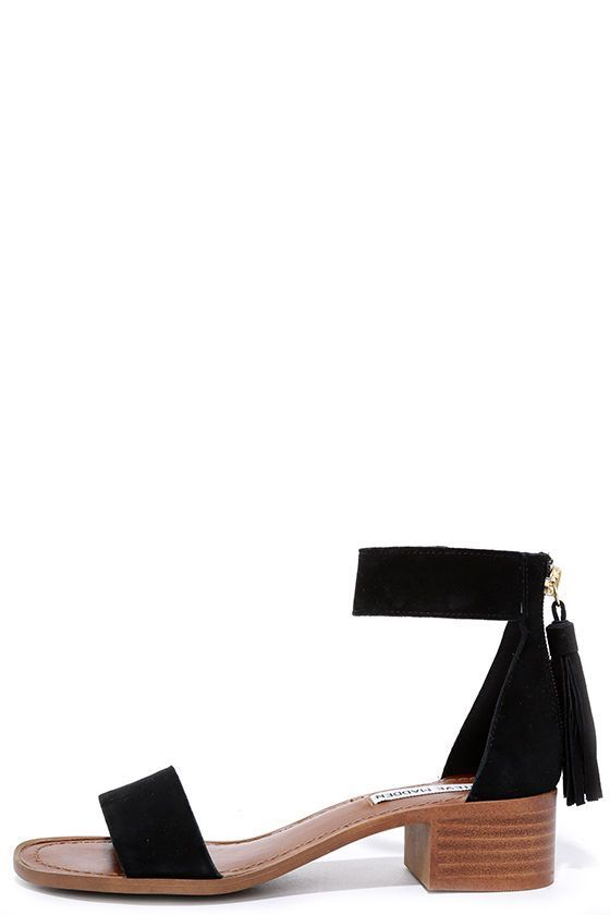 0ce3dca9b8e With a charming block heel, the Steve Madden Darcie Black Suede ...