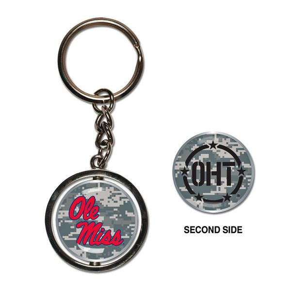 Ole Miss Rebels Operation Hat Trick Spinner Keychain