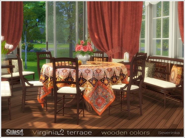 A Set Of Furniture And Decor For Decoration The Terrase Or Dining Room Found