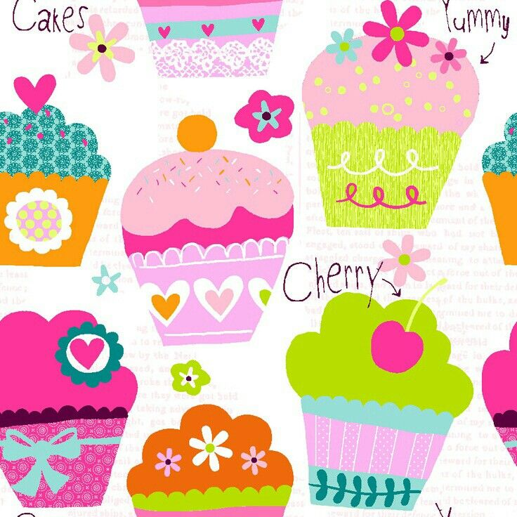 Girly Wallpapers Love Pinterest Cupcakes Wallpaper And Birthday Cake Illustration