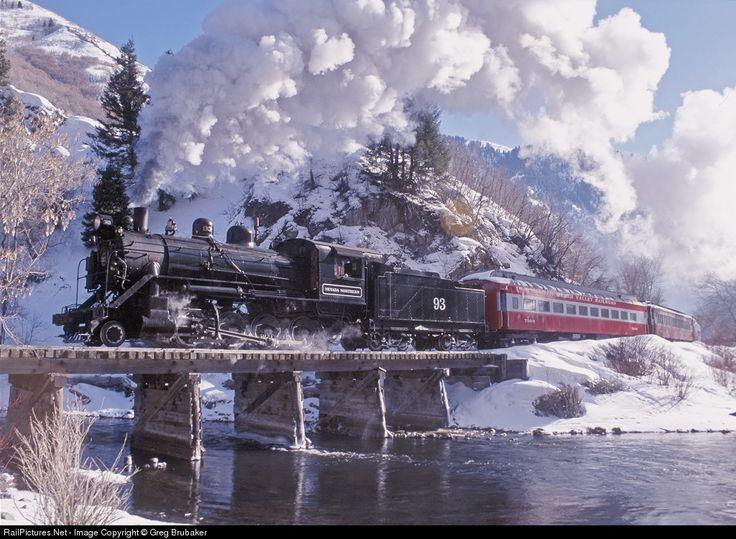 RailPictures.Net Photo: NNRY 93 Nevada Northern Railway Steam 2-8-0 at Wildwood, Utah by Greg Brubaker