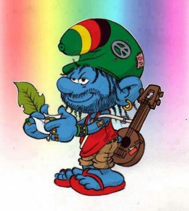 Smurfs Smoking Weed Hippie smurfs,