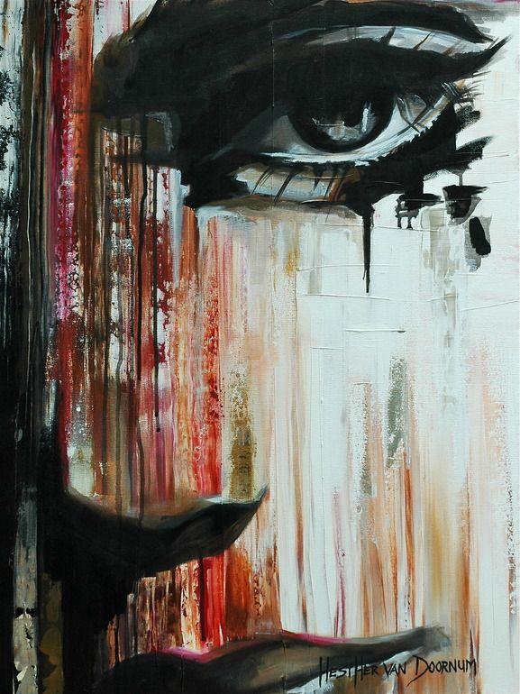 """Saatchi Online Artist: Hesther Van Doornum; Acrylic, 2010, Painting """"She"""""""