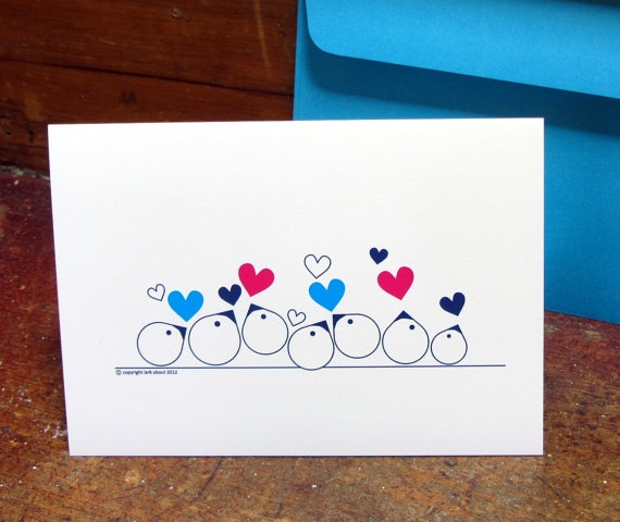 One of my fav designs 'Joy' on a greeting card by Lark About Stationery