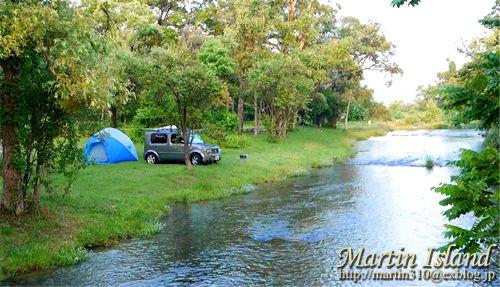 """◆驚きの無料キャンプ場・・・""""墓ノ木自然公園キャンプ場"""" さてどうだろう? こんな清流が流れ、草地にテントが張れる、環境抜群の林間のキャン..."""