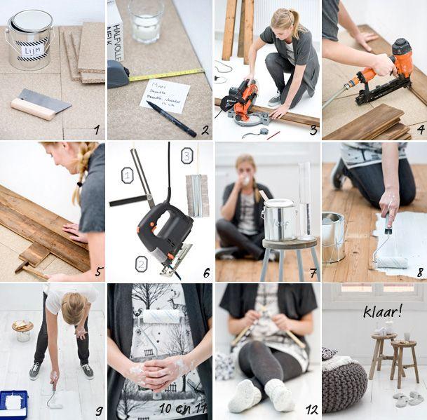 Stappenplan houten vloer wit verven