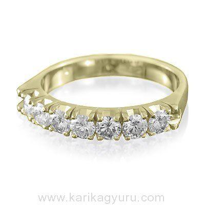 Klasszikus hét köves gyémánt gyűrű.  www.karikagyuru. com