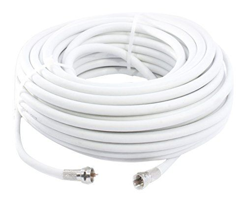 From 7.99 Smedz 20 M Fully Assembled Satellite Cable Extension Kit With F-connector Connections Suitable For Sky Freesat And Virgin Media - White