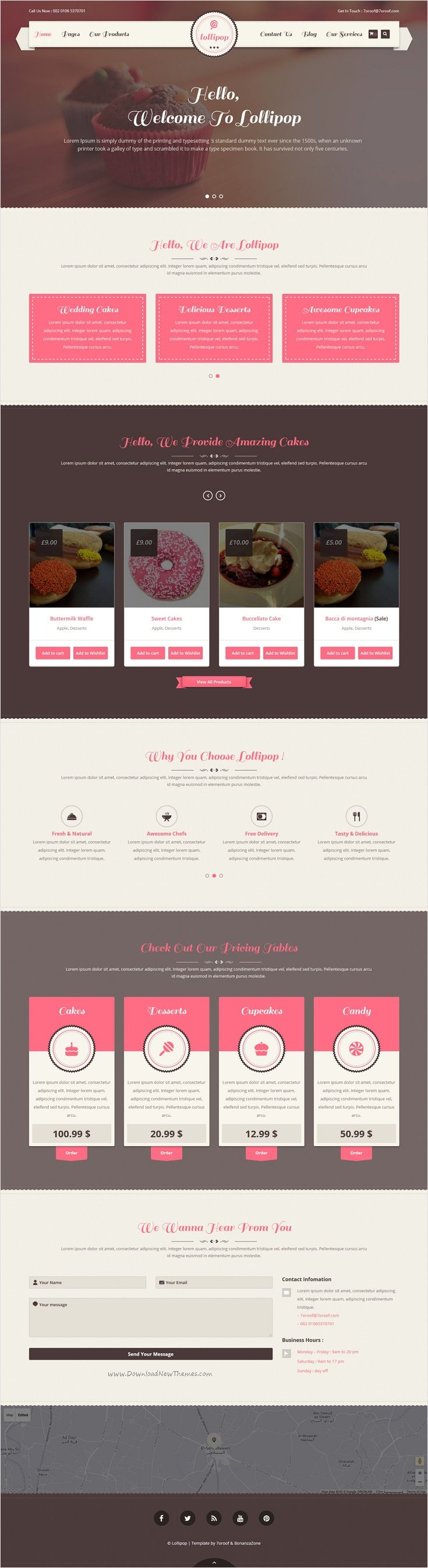 Lollipop is a premium and professional 2 in 1 #WordPress theme for Cakes, Bakeries, #Sweets, #Restaurants or #Food Business website download now➩ https://themeforest.net/item/lollipop-awesome-sweets-cakes-responsive-wordpress-theme/16124294?ref=Datasata