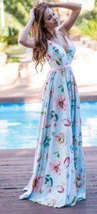Dresses for wedding or baptism floral maxi kalokairino forema