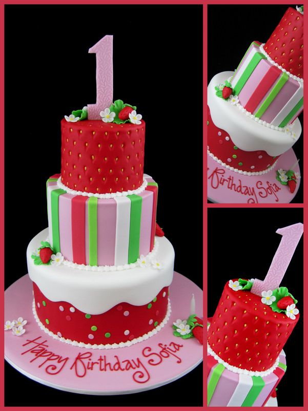 first birthday party ideas for girls | strawberry shortcake 1st birthday cake