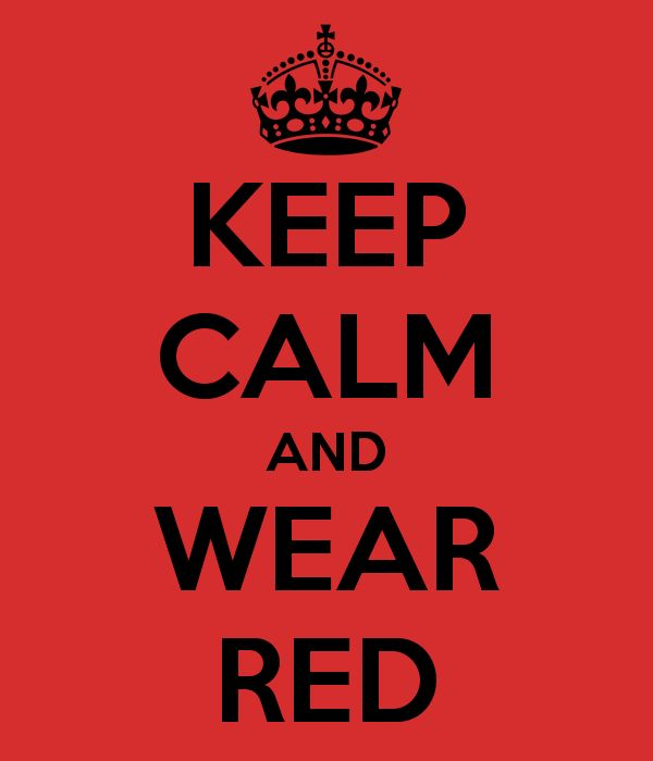 KEEP CALM AND WEAR RED