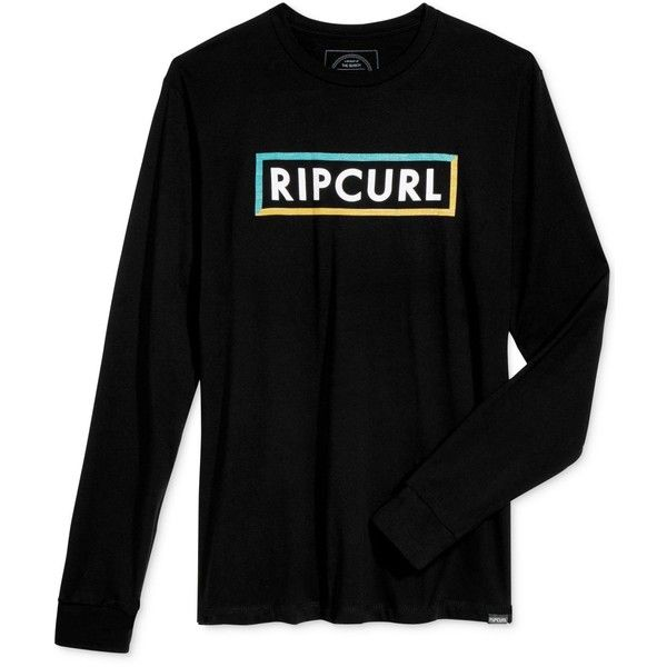 Rip Curl Men's Sick Duck Graphic-Print Logo T-Shirt ($30) ❤ liked on Polyvore featuring men's fashion, men's clothing, men's shirts, men's t-shirts, black, mens long sleeve shirts, mens t shirts, mens long sleeve graphic t shirts, mens graphic t shirts and mens long sleeve t shirts