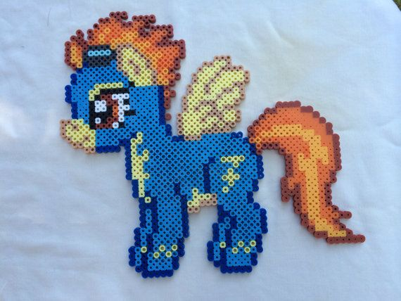Spitfire - My Little Pony Friendship is Magic perler beads by PrettyPixelations