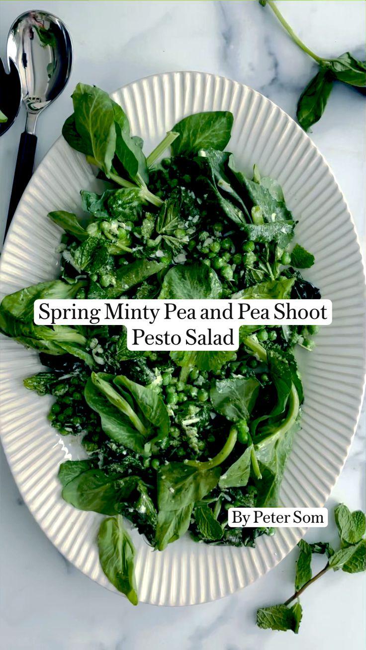 Veggie Recipes, Vegetarian Recipes, Healthy Recipes, Clean Eating Salads, Healthy Eating, Pesto Salad, Homemade Pesto, Plant Based Eating, Food Shows
