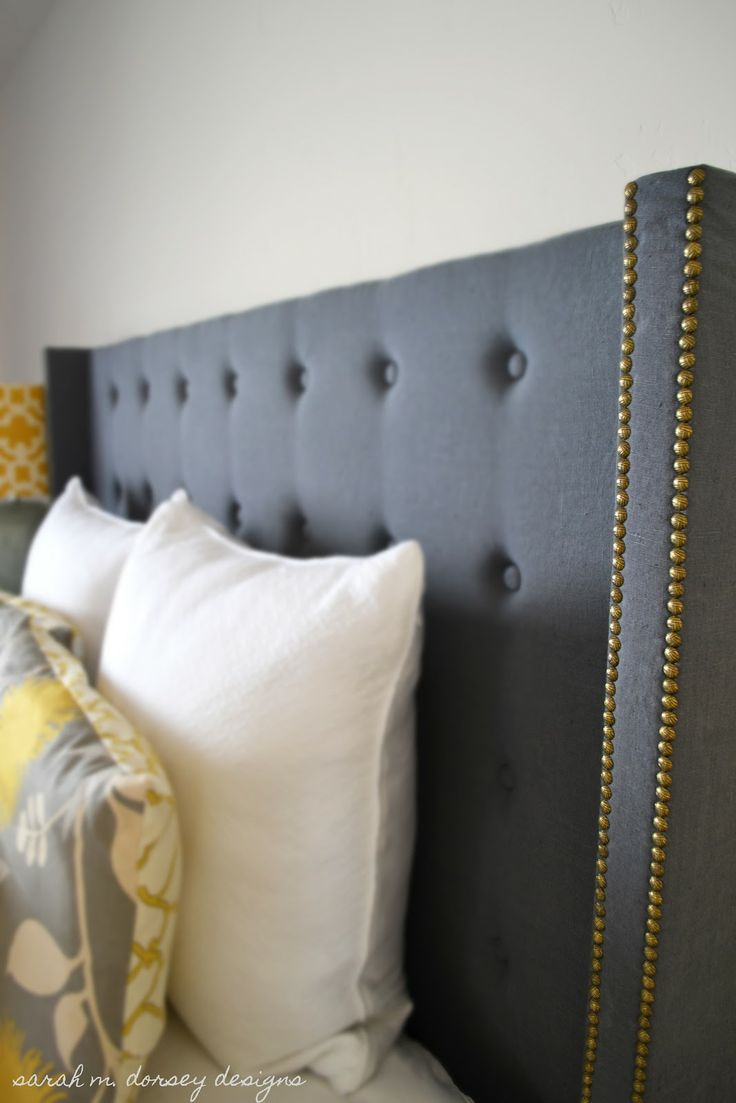 Diy upholstered headboard with nailhead trip wings sarah m. dorsey designs: DIY