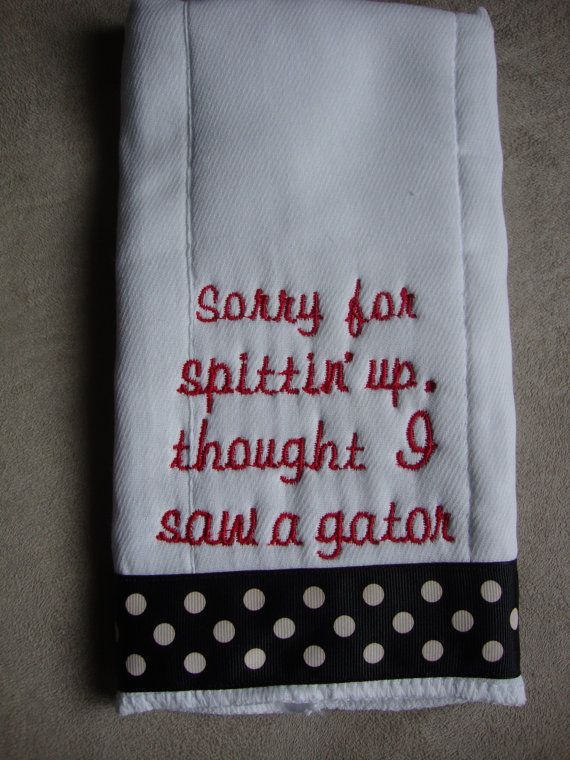 UGA burp cloth! Want this for one day Baby Garner :)
