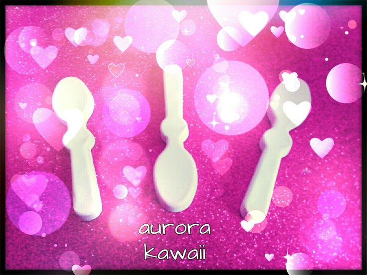 ★Cucchiaini in gesso rosa★|| aurora kawaii