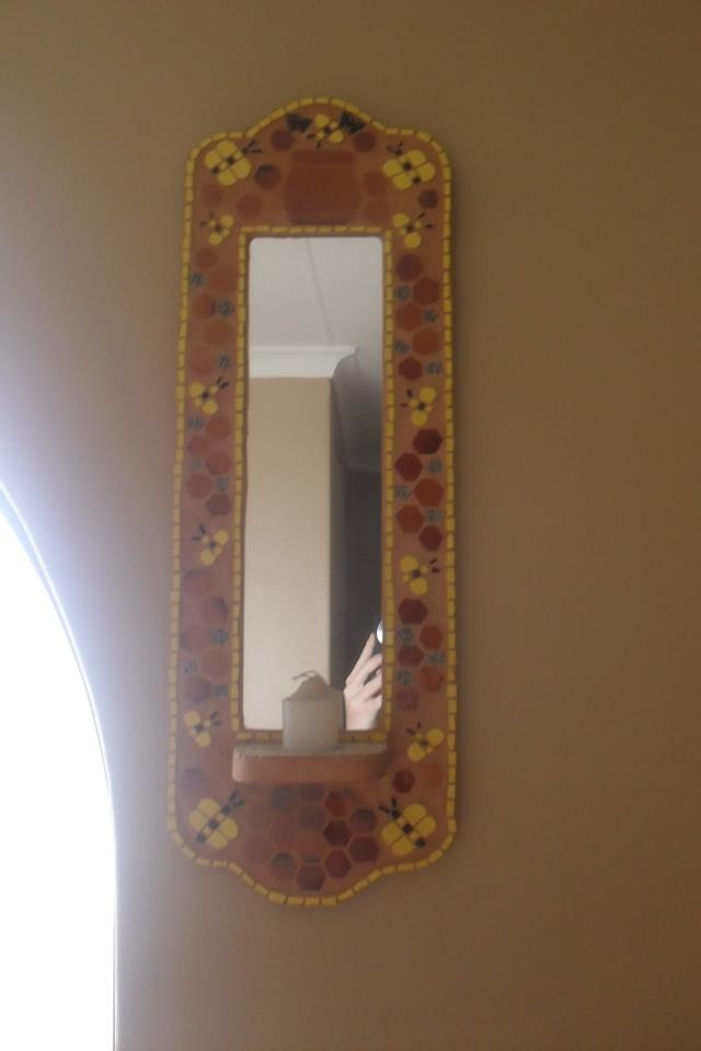 Mirror with tea light candle