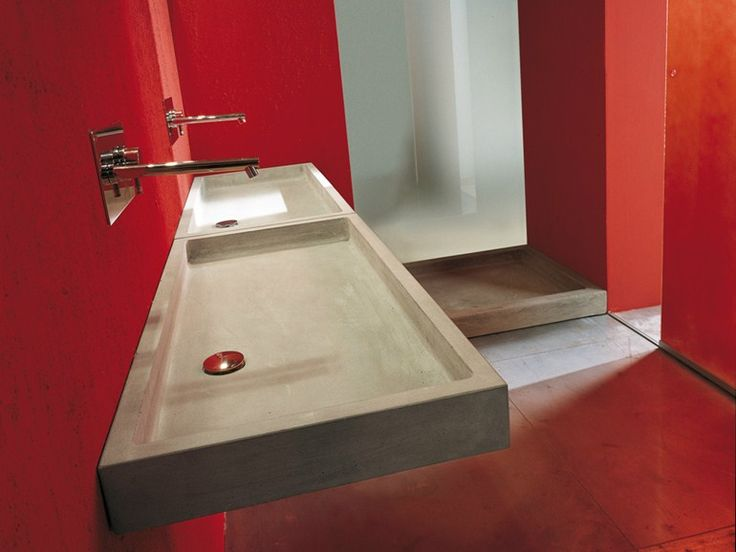 ELLE Rectangular washbasin by Moab 80 design Gabriella Ciaschi, Studio Moab
