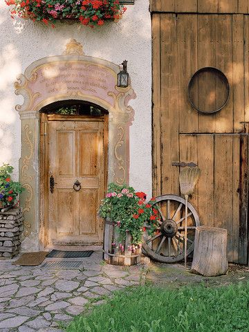 Frescoed Farmhaus ~ Oberammergau, Bavaria (home of the Passion Play every 10 years)