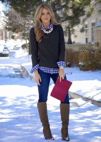 I'd LOVE to get something like this button down, sweater & necklace in a fix!