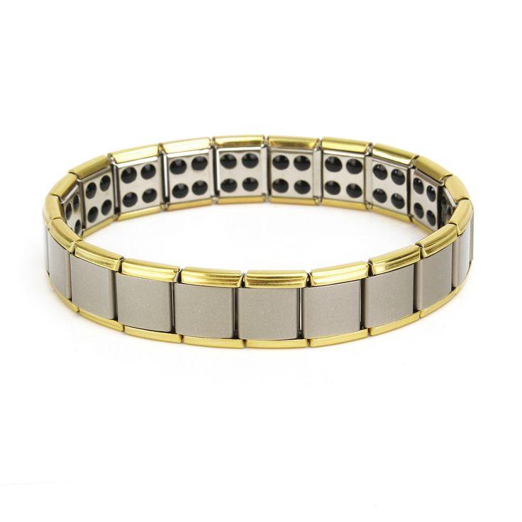 Stainless Steel Magnetic Magnet Energy Health Healing Men Bracelet Jewelry