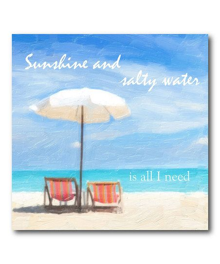 'Sunshine and Salty Water' Canvas