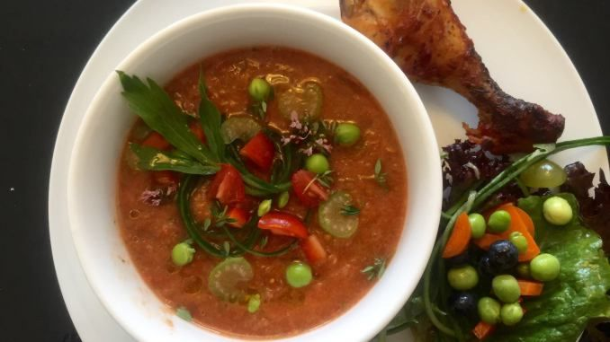 Gazpacho, kold spansk tomatsuppe