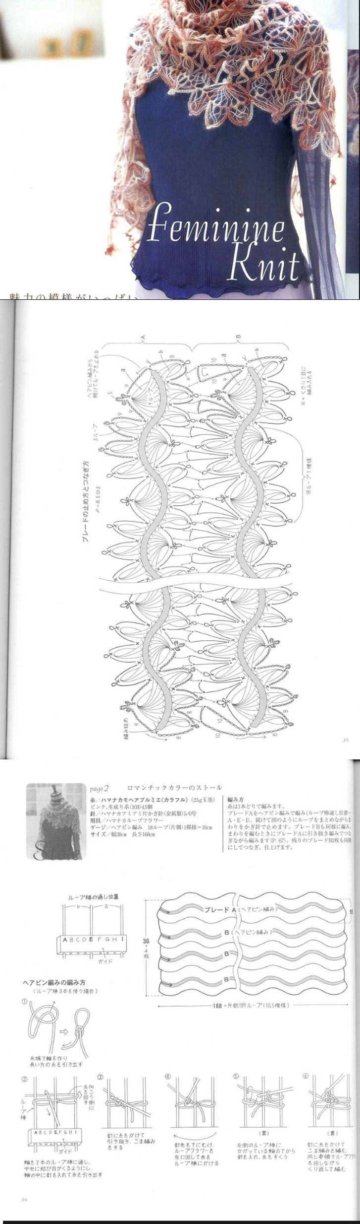 shawl - guimpe haken - hairpin lace crochet