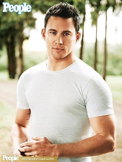 Channing Tatum, second hottest guy out there first is my hubby of course