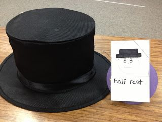 Half Rest, Whole Rest Hat with story and lesson ideas