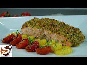 Salmone al forno: gratinato con pistacchi - Speziata