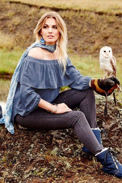 boho bird Always At Your Shoulder Tunic - Womens Tunics at Birdsnest Women's Fashion