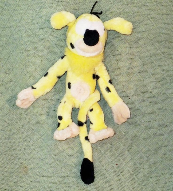 "13"" MARSUPILAMI Applause Disney Plush Stuffed Animal Yellow Black ..."