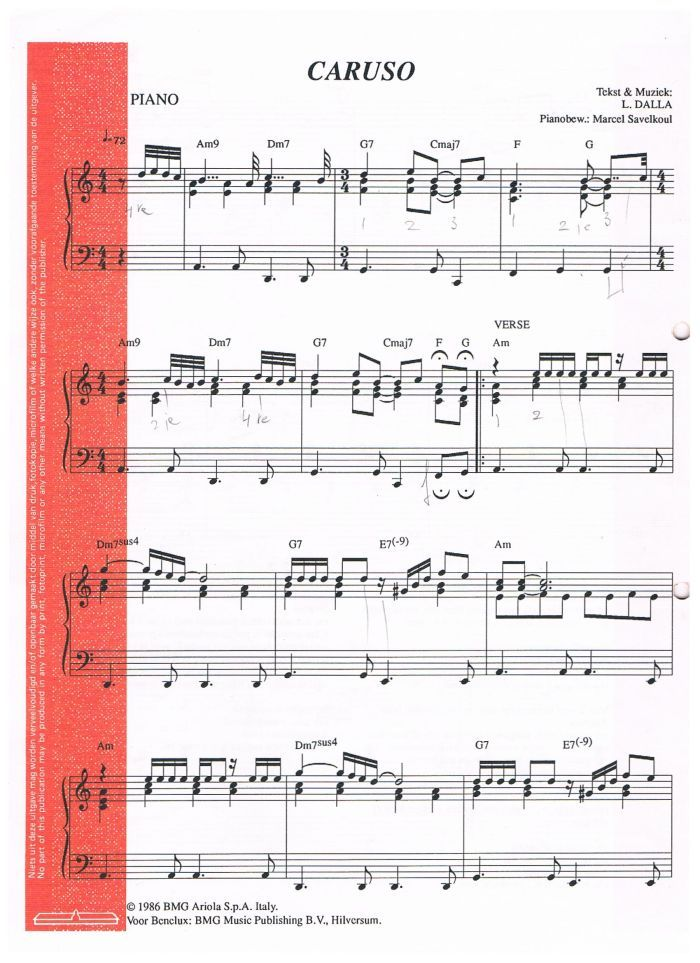 well known get cheap the best attitude CARUSO – Lucio Dalla – Luciano Pavarotti | Sheet music ...
