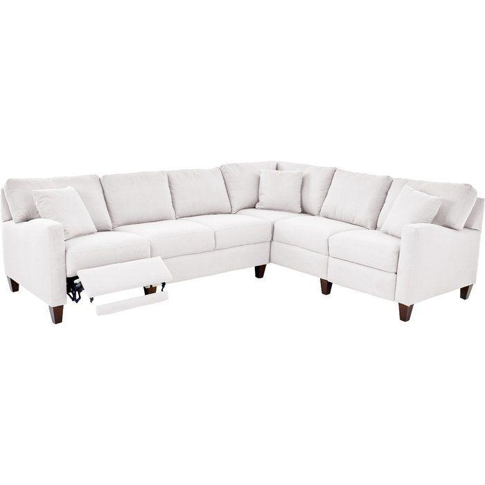 wayfair custom upholstery william reclining sectional wayfair