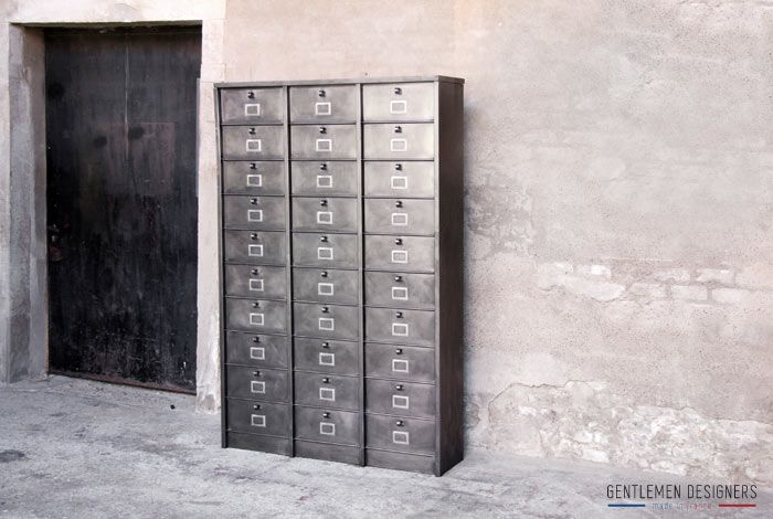 Meuble m tal 24 tiroirs morgan forge de strasbourg for Made france meuble