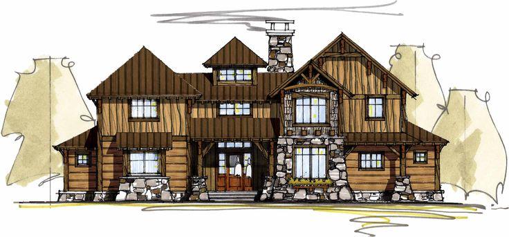 97 best house plans i like images on pinterest home for Mountain bridge floor plans
