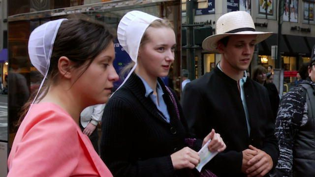 Breaking Amish is a 2012 American reality television show that follows five Amish young adults who leave the Amish community to experience life in New York City. This particular clip showcases their first encounter in New York and highlights the disparages between the Amish and non-Amish.