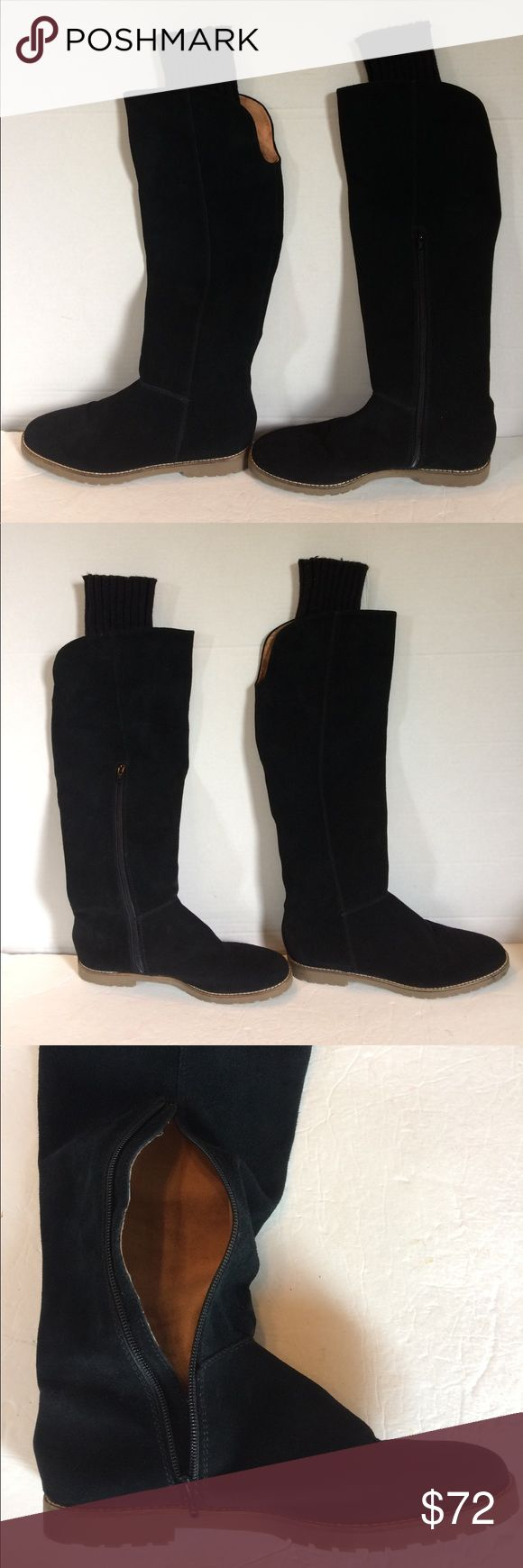 """Corsica Como Black Suede Mid Calf Boots Extremely nice pair of black Suede Mid Calf Boots. They feature; leather leather uppers, leather/textile lining and man made soles. Elastic sock at the top and lower inside zipper. Total height is 18.5"""" and top circumference is 17"""". Heel is 3/4"""". Overall Exceptional preowned condition. 8M Corso Como Shoes Ankle Boots & Booties"""